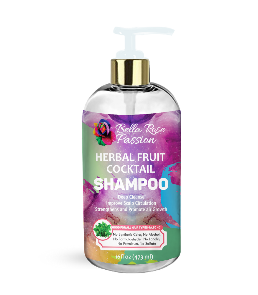 Herbal Fruit Cocktail Hair Shampoo - Bella Rose Passion