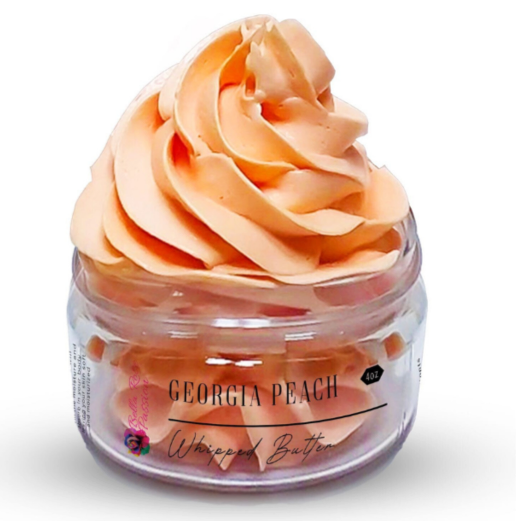 Scented ( Georgia Peach ) Whipped Face & Body Butter - Bella Rose Passion