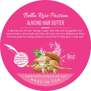 Almond Hair Butter - Bella Rose Passion