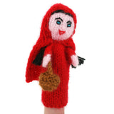 Hand Knitted Finger Puppet - Little Red Riding Hood