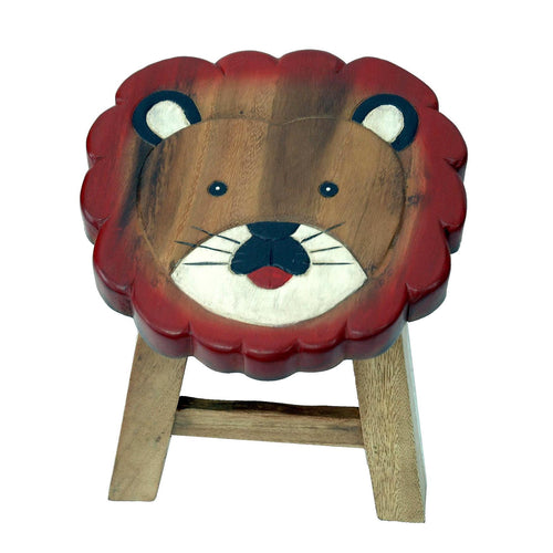 Childrens Wooden Stool - Lion