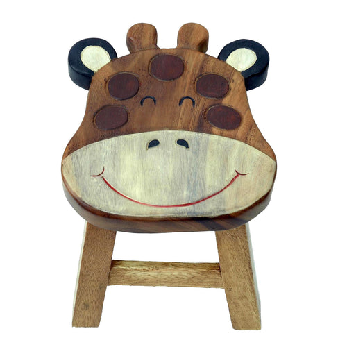 Childrens Wooden Stool - Giraffe