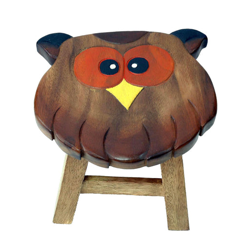 Childrens Wooden Stool - Owl
