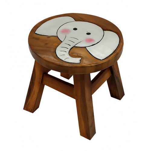 Childrens Wooden Stool - Elephant