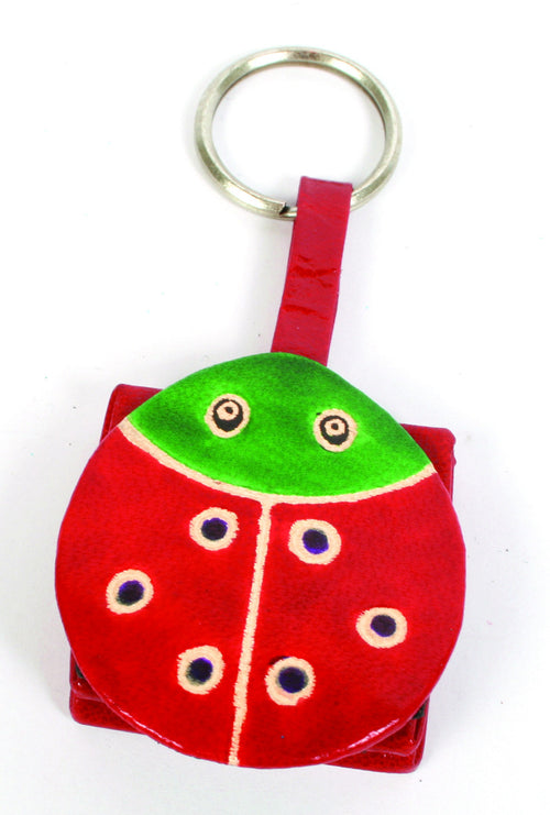 Ladybird Leather Keyring Purse