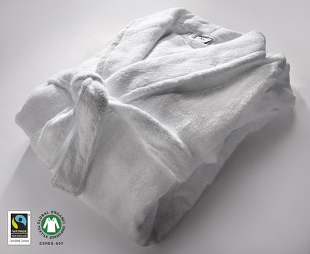 100% Organic Cotton Fairtrade Hotel Quality White Deep Fitted Sheet