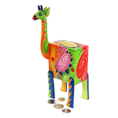 Giraffe Multi-Coloured Money Box