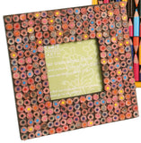 Recycled Coloured Pencils Photo Frame