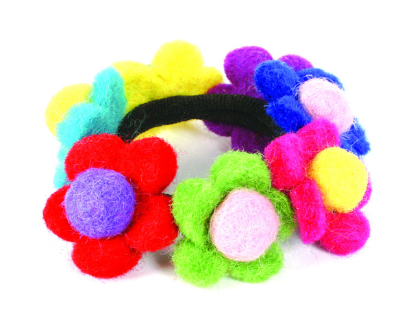 Multi-Coloured Floral Hair Bobbin