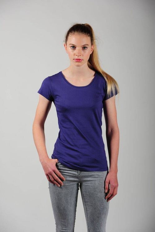 Prairie Traders Fairtrade Organic Cotton Womens T-Shirts - Navy