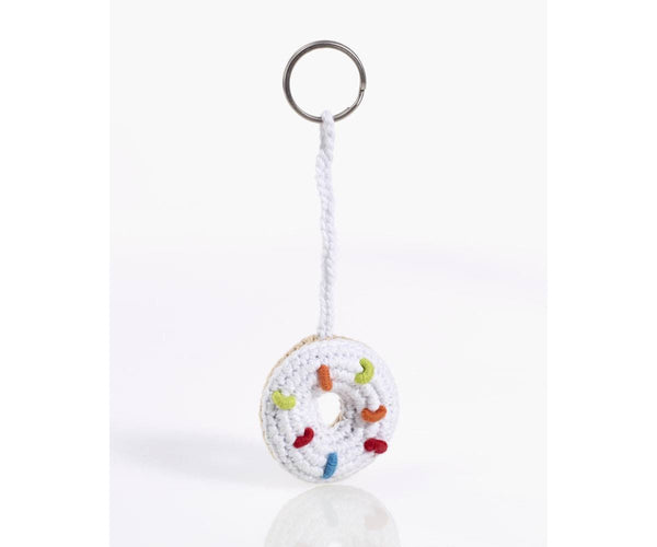 Organic Cotton Fairtrade Crochet Keyring - Donut