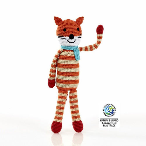 Fox Rattle Pebble Child Fair Trade