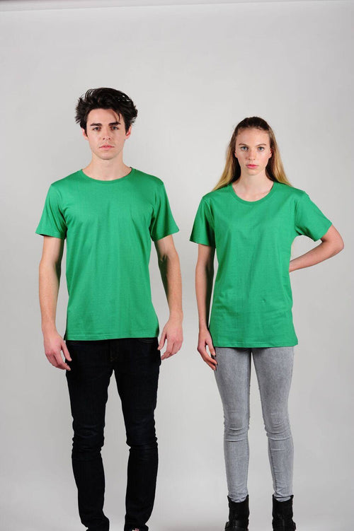 Prairie Traders Fairtrade Organic Cotton Mens/Unisex T-Shirts - Kelly Green