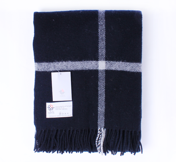 Hammy 100% New Zealand Wool Blanket - Black