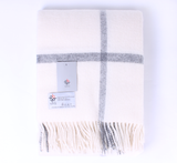 Hammy 100% New Zealand Wool Blanket - Cream