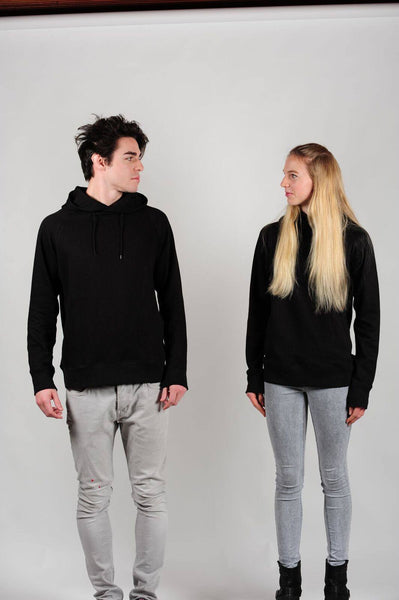 Prairie Traders Fairtrade Organic Cotton Hoodies - Black