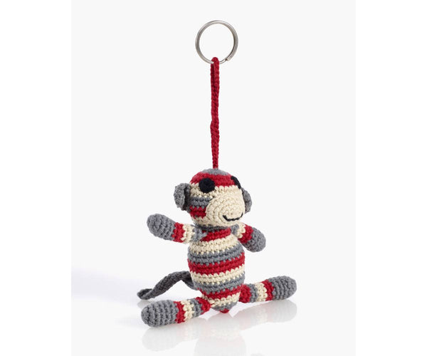 Organic Cotton Fairtrade Crochet Keyring - Monkey