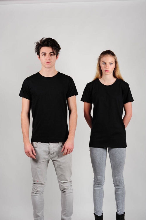 Prairie Traders Fairtrade Organic Cotton Mens/Unisex T-Shirts - Black
