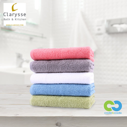 100% Cotton Cradle 2 Cradle Jules Clarysse Towels - Available in 5 Different Colours