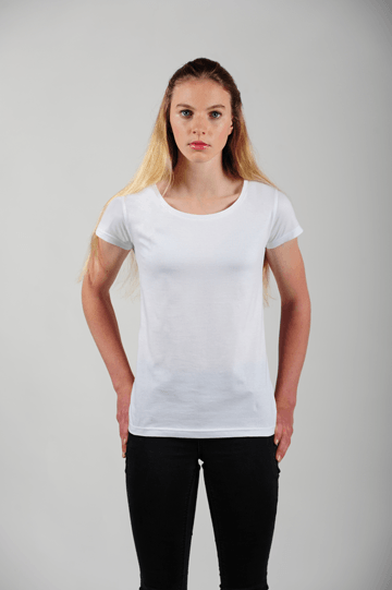 Prairie Traders Fairtrade Organic Cotton Womens T-Shirts - White