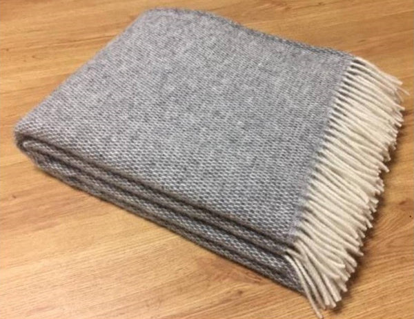 Zara 100% New Zealand Wool Blanket - Grey