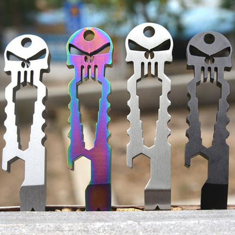 Stainless Steel Tactical EDC Pocket Multi-tool Screwdriver, Crowbar and Titanium Keychain - The Souvenir´s Store