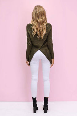 Peekaboo Knit in Khaki