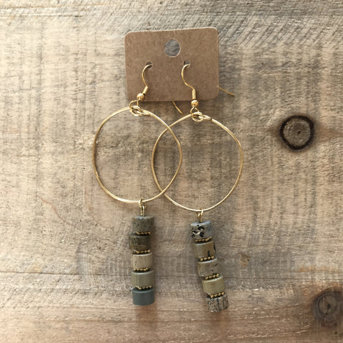 Natural Vibes Gold Hoop Earrings // made in Charleston, SC