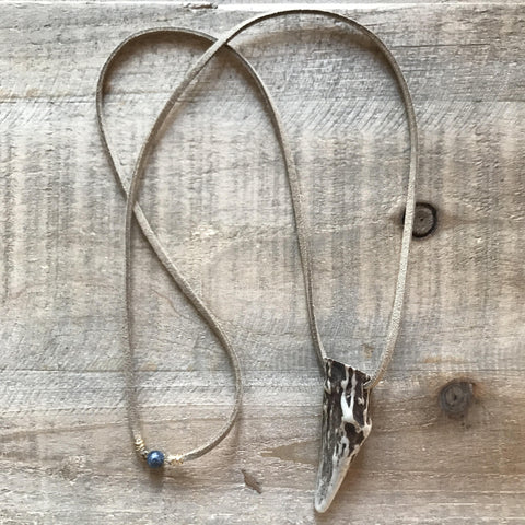 Suede Antler Necklace // made in Charleston, SC