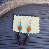 Turquoise and Suede Earrings // made in Charleston, SC