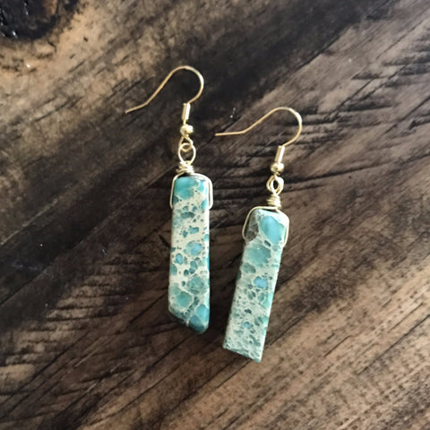 Aqua Terra Jasper Dangle Earrings