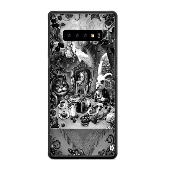 Alice In Wonderland Sket Samsung Galaxy S10 Case | Frostedcase