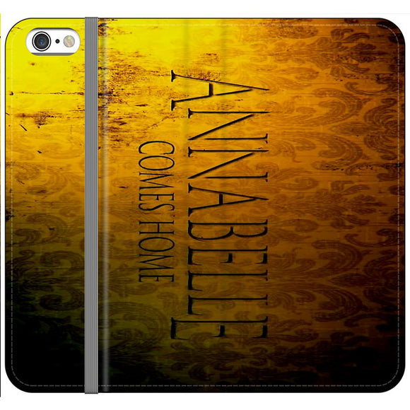 Annabelle Comes Home Poster Wall Gold Movie iPhone 6 Plus|6S Plus Flip Case | Frostedcase