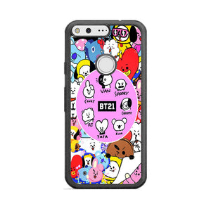 Bt21 Doodle Art All Character Google Pixel XL Case | Frostedcase