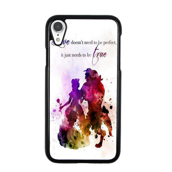 Beauty And The Beast Watercolour iPhone XR Case | Frostedcase