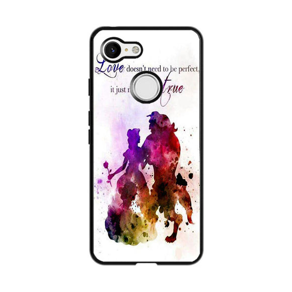 Beauty And The Beast Watercolour Google Pixel 3 Case | Frostedcase