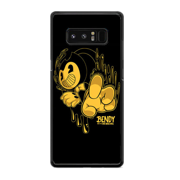 Bendy And The Ink Machine Black Gold Samsung Galaxy Note 8 Case | Frostedcase
