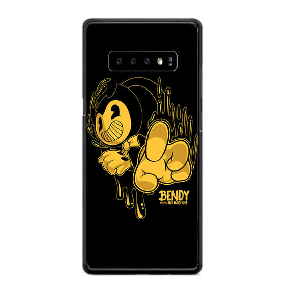 Bendy And The Ink Machine Black Gold Samsung Galaxy S10 Plus Case | Frostedcase