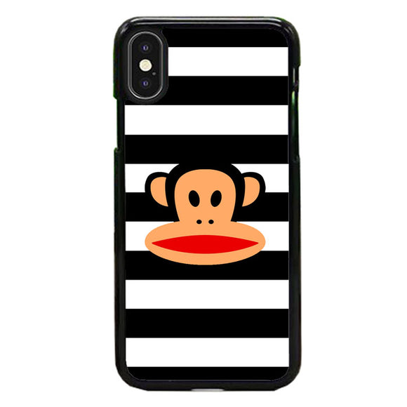Black White Line X Paul Frank Logo iPhone XS Max Case | Frostedcase