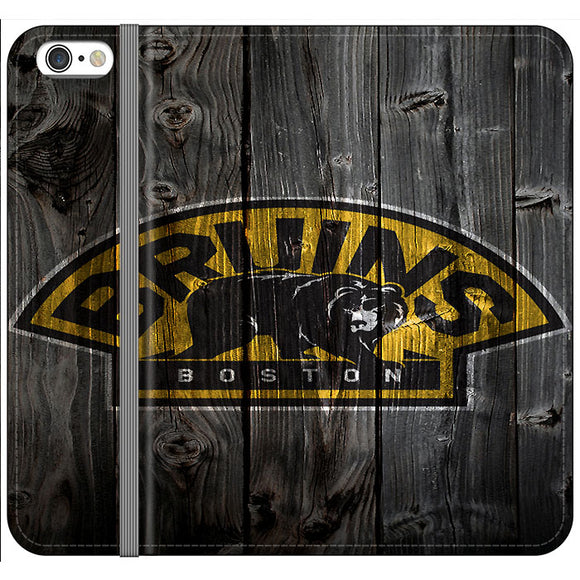 Boston Bruins Hockey Wooden iPhone 6 Plus|6S Plus Flip Case | Frostedcase