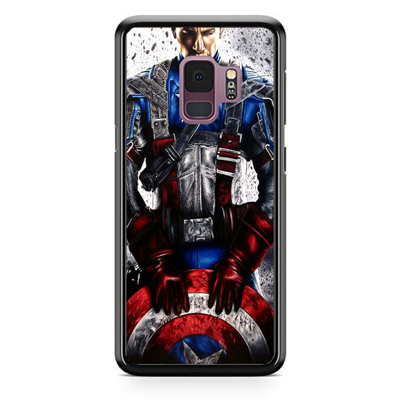 Captain America Vector Samsung Galaxy S9 Case | Frostedcase