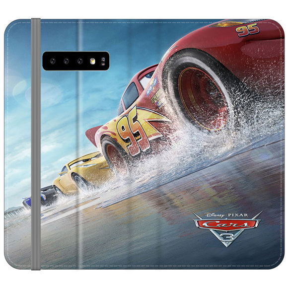 Cars 3 Poster Samsung Galaxy S10 Plus Flip Case Frostedcase