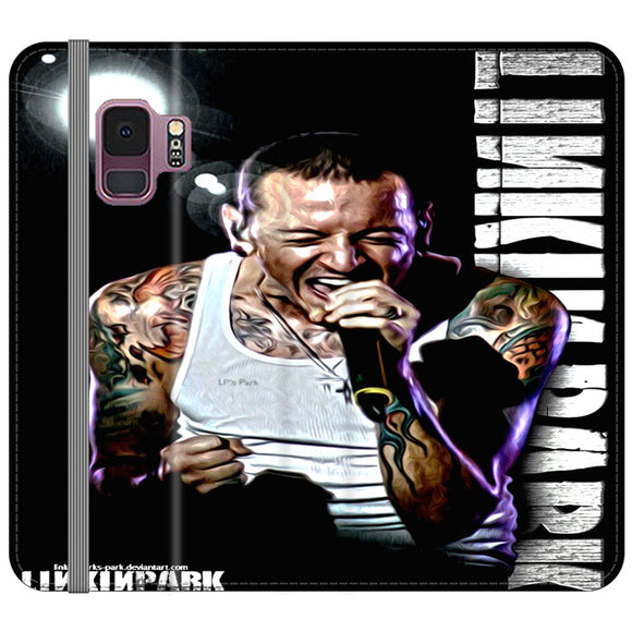 Chester Benington Linkin Park Samsung Galaxy S9 Flip Case | Frostedcase