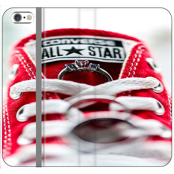 Converse All Star And Rings iPhone 6 Plus|6S Plus Flip Case | Frostedcase