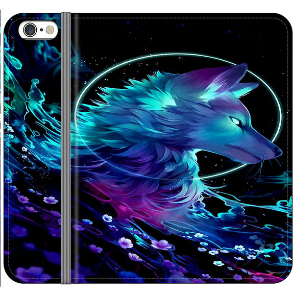 Cosmic Wolf Of Galaxy iPhone 6 Plus|6S Plus Flip Case | Frostedcase