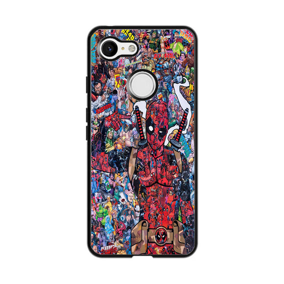 Deadpool Black And White Google Pixel 3 Case | Frostedcase