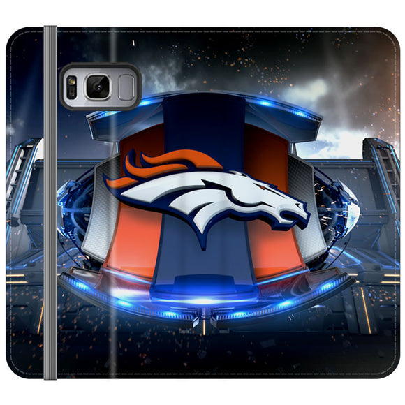 Denver Broncos Football Team Emblem Samsung Galaxy S8 Plus Flip Case | Frostedcase