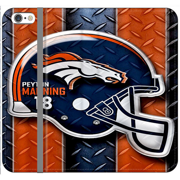 Denver Broncos Football Team Peyton Manning 18 iPhone 6 Plus|6S Plus Flip Case | Frostedcase