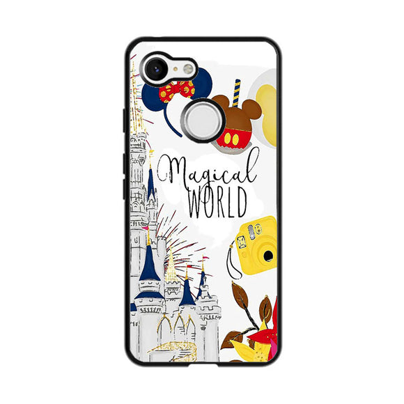 Disney Magical World Art Google Pixel 3 Case | Frostedcase