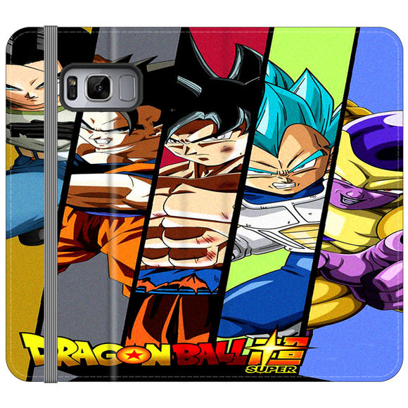Dragon Ball Super Face Slice Samsung Galaxy S8 Plus Flip Case | Frostedcase